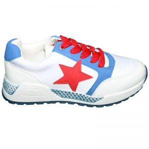 Pantofi sport copii alb/blu 30-38