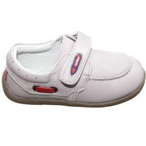 Pantofiori copii din piele naturala crem 19-24
