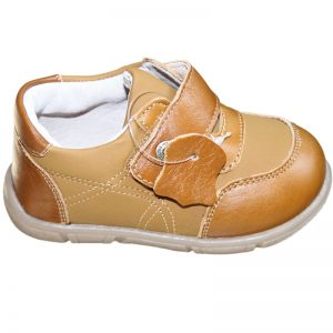 Pantofi copii din piele naturala camel 19-24