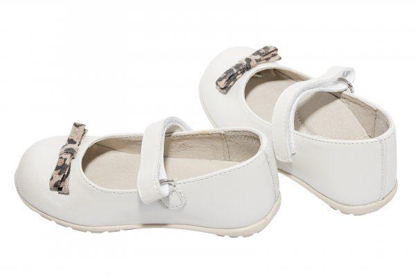 Pantofi fetite din piele naturala Candy alb Pj Shoes 20