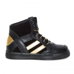Gheata fete piele Box negru auriu Pj Shoes 31
