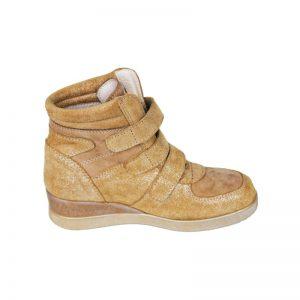 Ghete platforma Geppi din piele naturala bej Pj Shoes 32