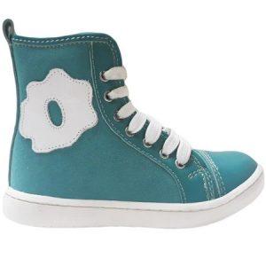 Ghete copii piele Bronx verde Pj Shoes