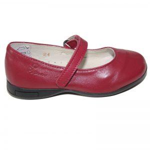 Pantofi fetite din piele naturala Candy bordo 24-28