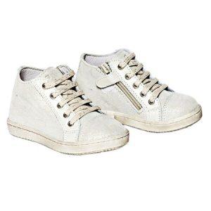 Tenisi copii din piele naturala PJ Shoes Rocky, Alb, 20
