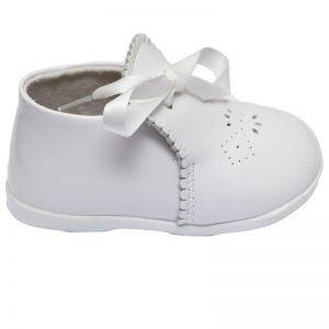 Pantofiori copii albi din piele naturala 18-23