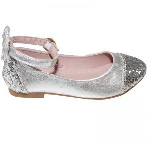 Balerini fetite argintii, marimea 26