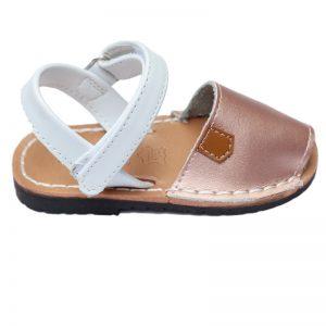 Sandalute fete din piele naturala bronz 21-27