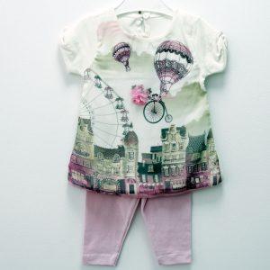 Set tricou si colantei pentru fetite 9-18 luni