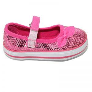 Pantofiori copii cu paiete fuxia 20