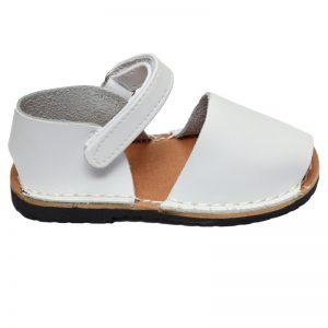 Sandale copii albe din piele naturala 19-24