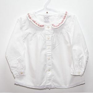 Bluza fete alba NewNess, marimi 6-12 luni