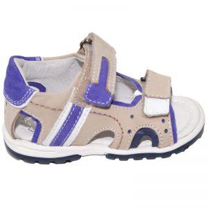 Sandale copii din piele naturala bej mov