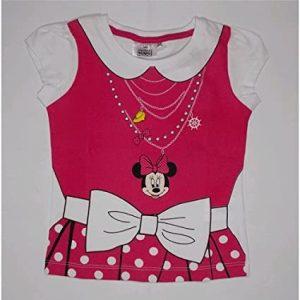 Tricou copii Minnie Mouse alb roz 8 ani
