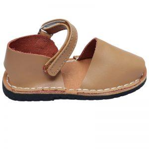 Sandale copii din piele naturala crem 19-24