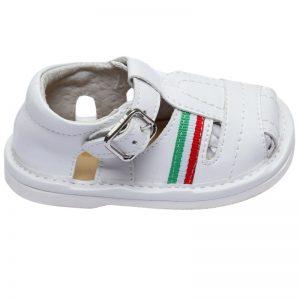 Sandalute copii albe primii pasi 17-22