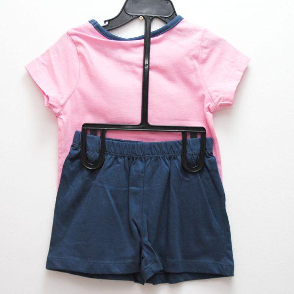 Set tricou si pantaloni scurti  Charmmy Kitty roz bleumarin 3-8 ani