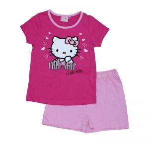 Set tricou si pantaloni scurti  Charmmy Kitty roz