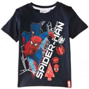 Tricou copii SpiderMan bleumarin