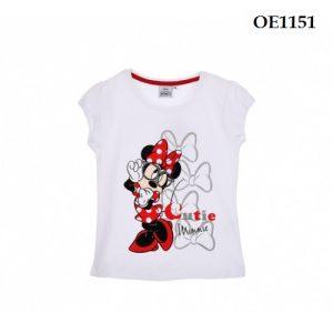 Tricou copii Minnie Mouse alb 4-8 ani