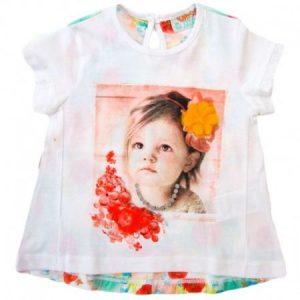 Tricou fetite cu imprimeu floral