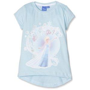 Tricou fete Frozen bleu 5 ani