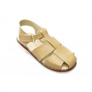 Sandale copii din piele naturala crem 20-27