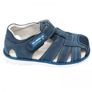 Sandale copii din piele naturala jeans 25-30