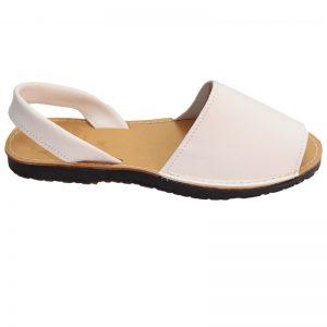 Sandale din piele naturala albe 36-41