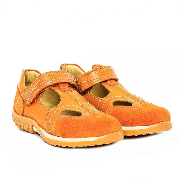 Sandale copii piele Pj Shoes 174 portocaliu