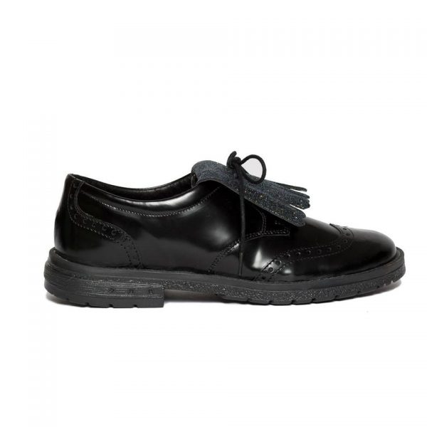 Pantofi fete scoala Voque negru gliter