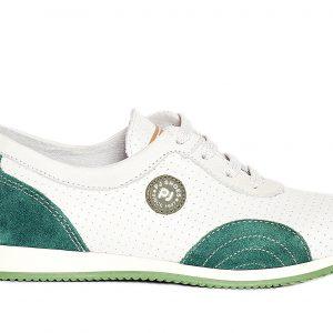Pantofi sport din piele Oskar alb verde