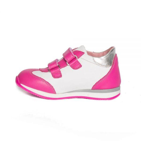 Pantofi sport piele Costa fuxia