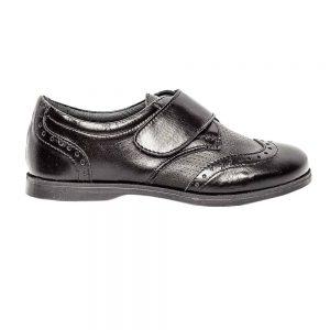 Pantofi copii scoala piele Frigerio 02 negru cu arici