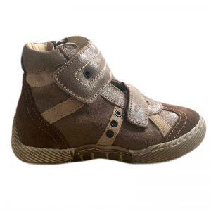 Ghete copii din piele Maxi Pj Shoes maro