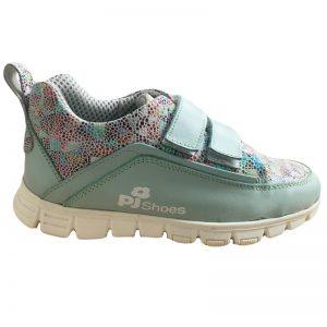 Pantofi piele sport Salvatore Pj Shoes Verde Print, marime 31