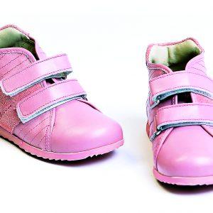Ghete fete piele pj shoes Seby roz