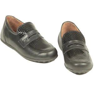 Pantofi copii piele negri Albert Pj Shoes
