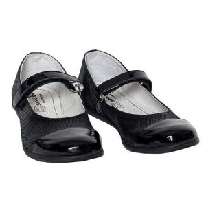 Pantofi fete piele Cherry negru Pj Shoes 35