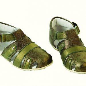 Sandale copii piele Pantera verde