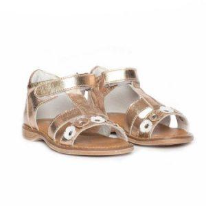 Sandale din piele Eva PJ Shoes Bronz