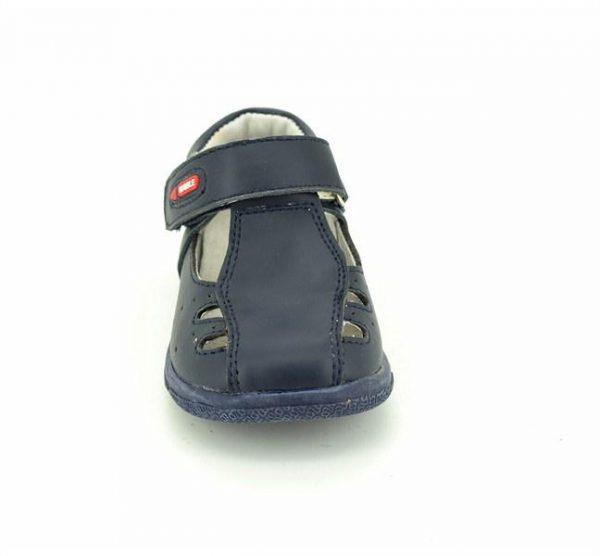 Pantofiori decupati din piele naturala bleumarin/rosu/alb 19-24
