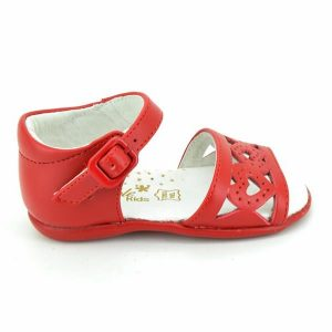 Sandale fetite rosii din piele naturala 18-24