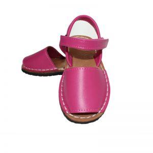 Sandalute copii din piele naturala fuxia 21-27