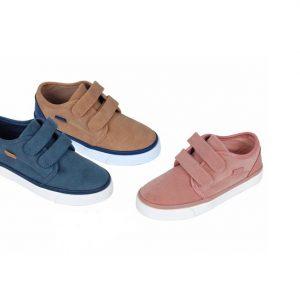 Pantofi casual jeans/camel/roz 28-30