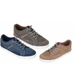 Pantofi baieti sport cu siret jeans/kaki/crem 27-32