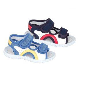 Sandale copii cu reglaj pe picior jeans/bleumarin 20-27