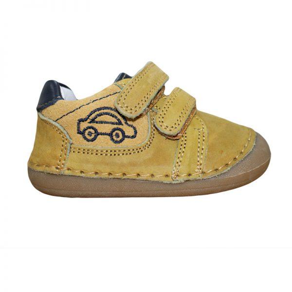Pantofi copii din piele naturala gri/bleumarin/camel 18-23