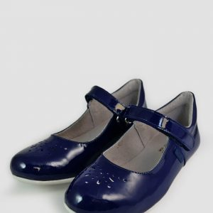Pantofi fete din piele naturala bleumarin cu bareta TINO, 30-35