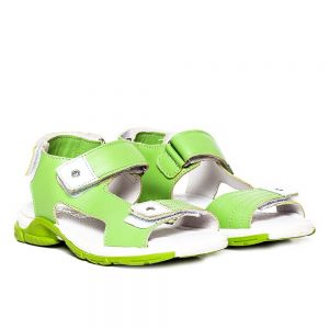 Sandale piele baieti Roy Verde Pj Shoes